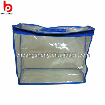 Good Quality Clear Vinyl Pvc Zipper Blanket Bags With