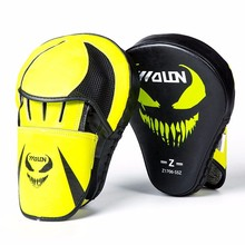 custom curved punching mitts for boxing