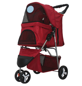 Lightweight Zipper Canopy Pet Trolley and Dogs Cats Carrier