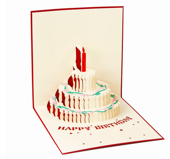 Wholesale Funny Paper Gift Birthday Pop Up Card Cheap Price 3D
