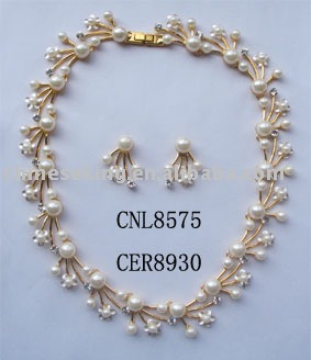 Gold Jewelry SetsElegant Pearl Necklace SetsInexpensive Necklace