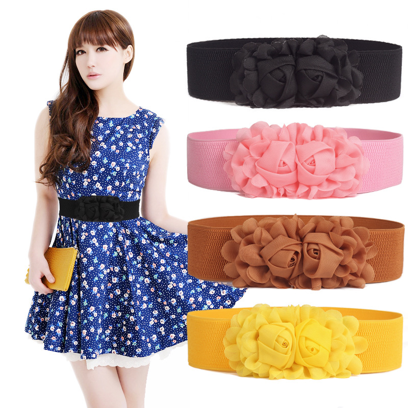 WIIPU Hot Sale Korean Version Of The Ultra Wide Women Double Rrose Elastic Waistband