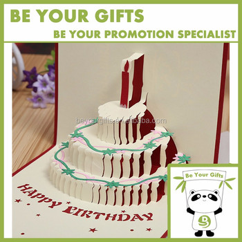 Custom 3d pop up cake shape birthday greeting card buy 3d pop up custom 3d pop up cake shape birthday greeting card bookmarktalkfo Image collections