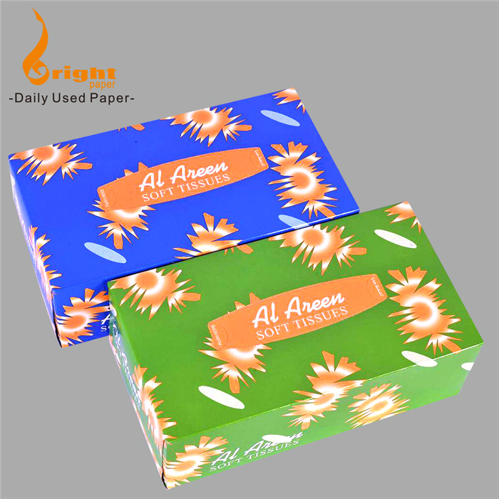 2Ply  Custom Printed Facial Tissue Box 100 sheets Facial Tissue