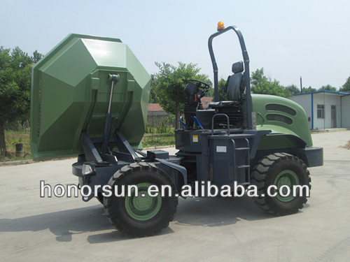 site dumper/mini Dump <strong>truck</strong>/ tip lorry/tilting cart/Bucket rotate 180 degree / car tipper