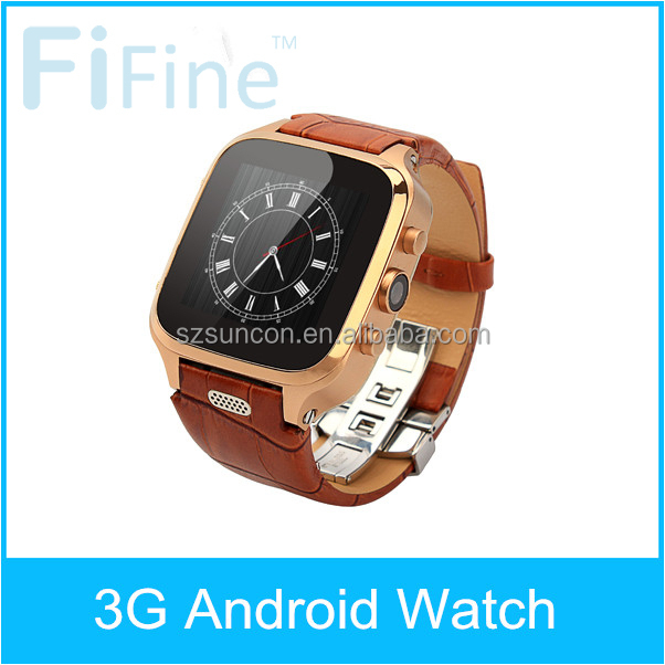 Genuine leather watch band GPS/WIFI MTK6572 Sapphire watch glass 300W camera android 4.4 bluetooth 4 tooth 4