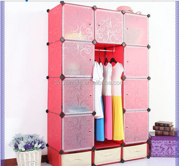 Kids Toy Or Clothes PP DIY Storage Box Cabinet