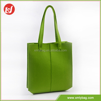 Green shopping bag wholesale reuse recycle felt tote bag