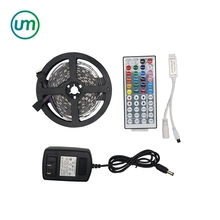 RGB LED Strip 5050 SMD 5 เมตร 150 LEDS + 12 โวลต์ 2A Power Adapter Adapter + 44Key IR Remote mini Controller
