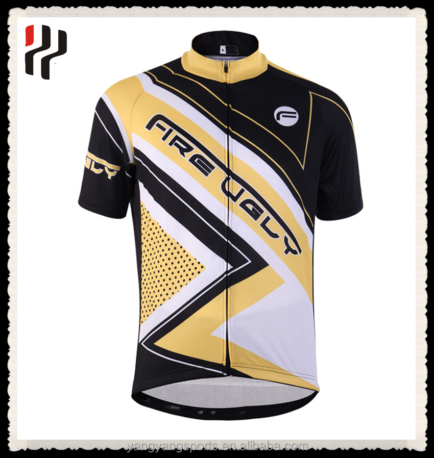 professional men's custom Team dry fit mtb bike jersey