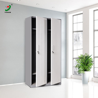 manufacturer fast delivery clothes storage 2 door metal wardrobe locker, bedroom wardrobe