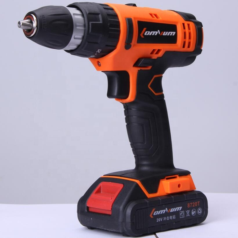 LOMVUM 20V electric rechargeable power impact multi-function cordless hammer <strong>drill</strong> with lithium battery