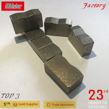 GS china stone diamond cutting segment, granite block diamond segment