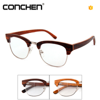 Gentleman optical eyeglasses wooden rimless glasses frame optical
