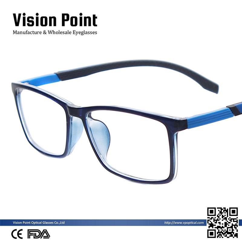 Moda hombres y mujeres coloridas TR90 gafas ópticas marcos para ...