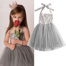 2016 Baby font b Children b font Girl Sequins Tulle Cute font b Dress b font