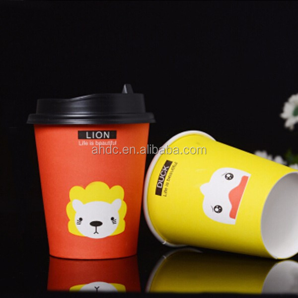 Best selling cartoon logo single wall disposable paper cup