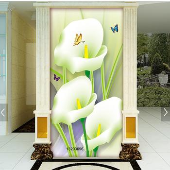 Customizable Calla Lily Wallpaper 3d Flowers Mural Full Wall Mural
