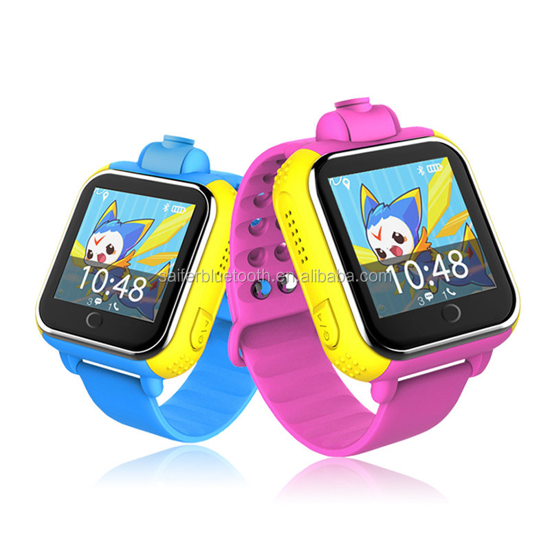 2017 new wholesale cheap q730 touch screen sos calling camera pedometer 3G kids gps tracker smart baby watch for ios android