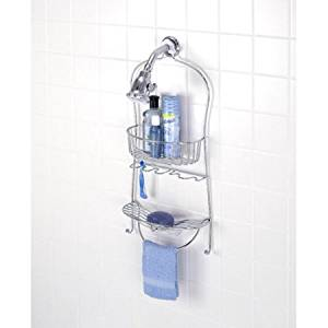 "Shower Caddy, Chrome Finish, 11.5""W x 25.25""H x 4.75"""