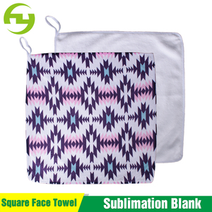 Polyester White Towel For Sublimation Printing Blank Microfiber Towel
