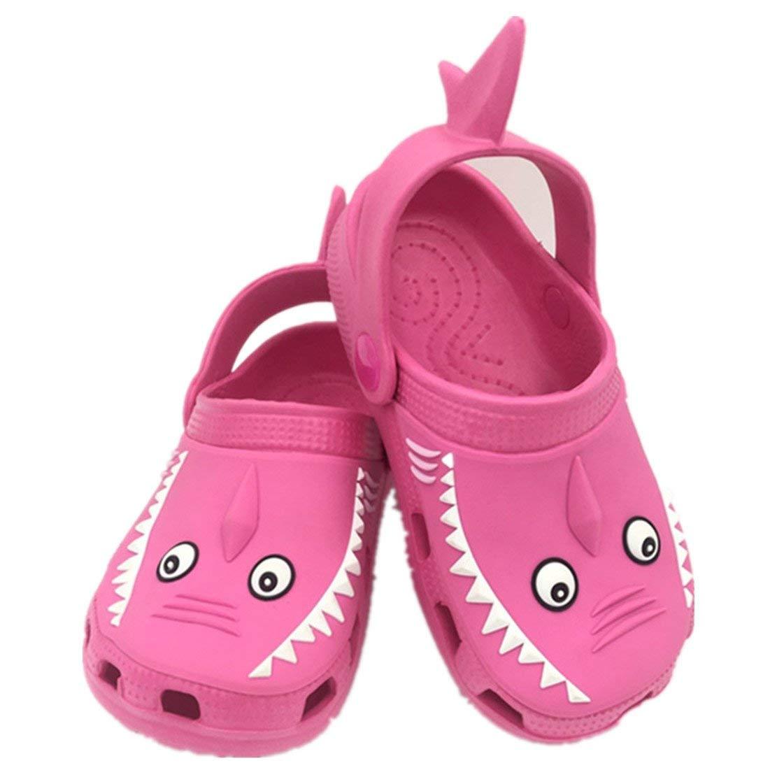 b22d1c5b093a6 TooToo Kids Garden Shoes Cartoon Shark Slides Sandals Clogs for Little Boys