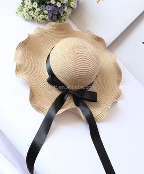 Viagem de casamento aba do chapéu de palha mulher praia chapéu de palha da  flor do a65acdf0fac