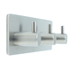 Stainless steel 3 clothes coat robe bath hook