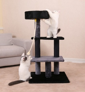 Factory Supplier Oem Plush Fur Scratching Post Pet Cat Tree
