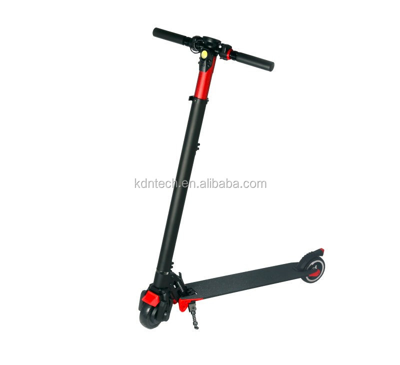 "2017 new products 2 wheel 5"" foldable carbon fiber stand up electric scooter with 250W"