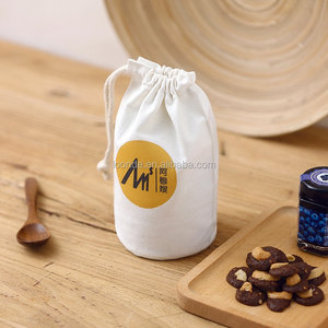 Custom round bottom printed canvas carry wine bottle bag for packing