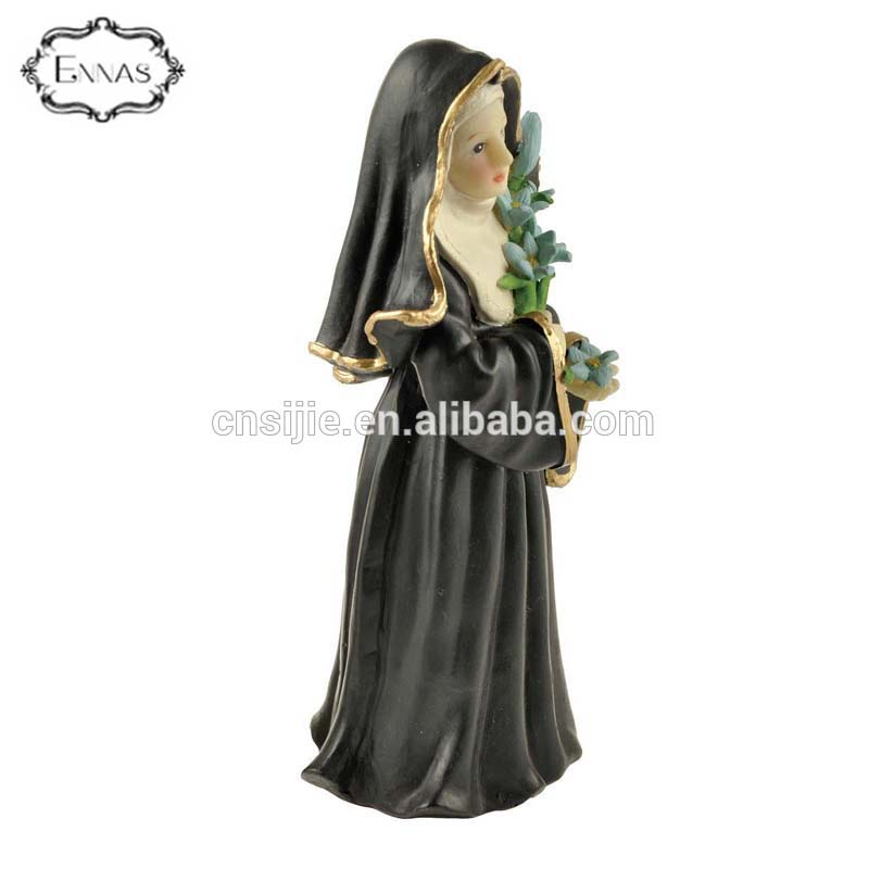 Polyresin religious catholic nun statues for decoration