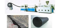 High quality and high efficiency extrusion PE carbon spiral reinforced tubing production line
