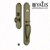 Outdoor Gate Double Sided Door Handle Lock Set American Standard Panel Lock With Antique Door Handle For Entrance