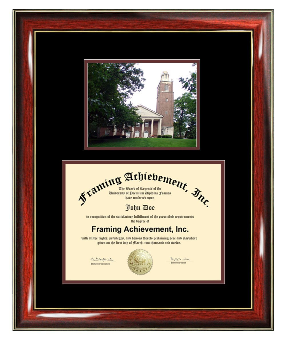 Kalamazoo College Diploma Frame Graduation Degree Frame Matted Certificate Plaque University Framing Plaque Graduate Gift
