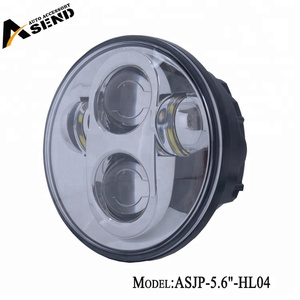 5.75In 5 3/4 inch projector super bright lighting white color headlight 6500K for bike/motocycle