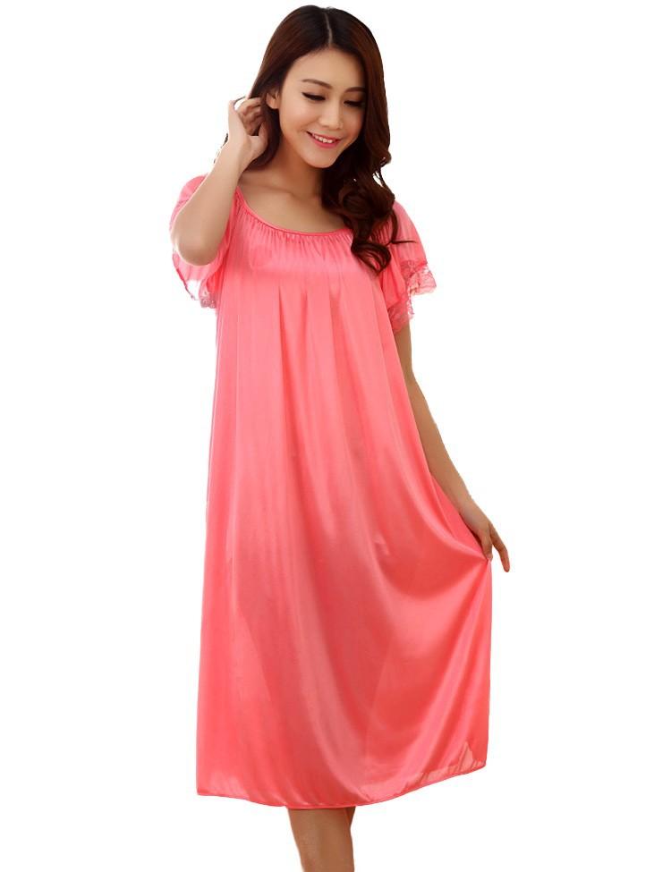 493ec320db843 Summer-sexy-maternity-clothes-sleepwear-long-silk-nightgowns- ...