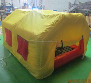 2017 new design inflatable house to live in, inflatable house tent with mattress
