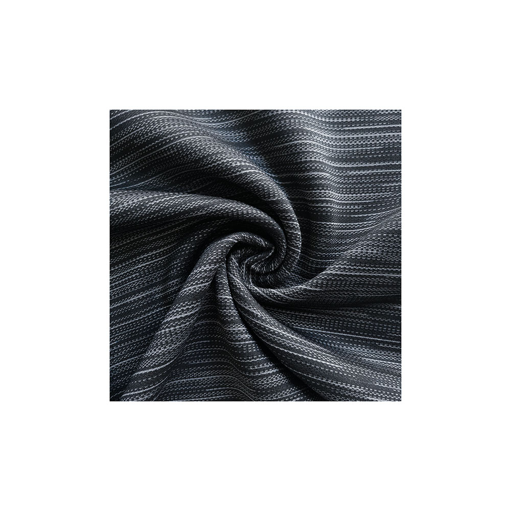 factory direct free sample stripe jacquard fleece polyester fabric for streetwear tracksuits RTS3214