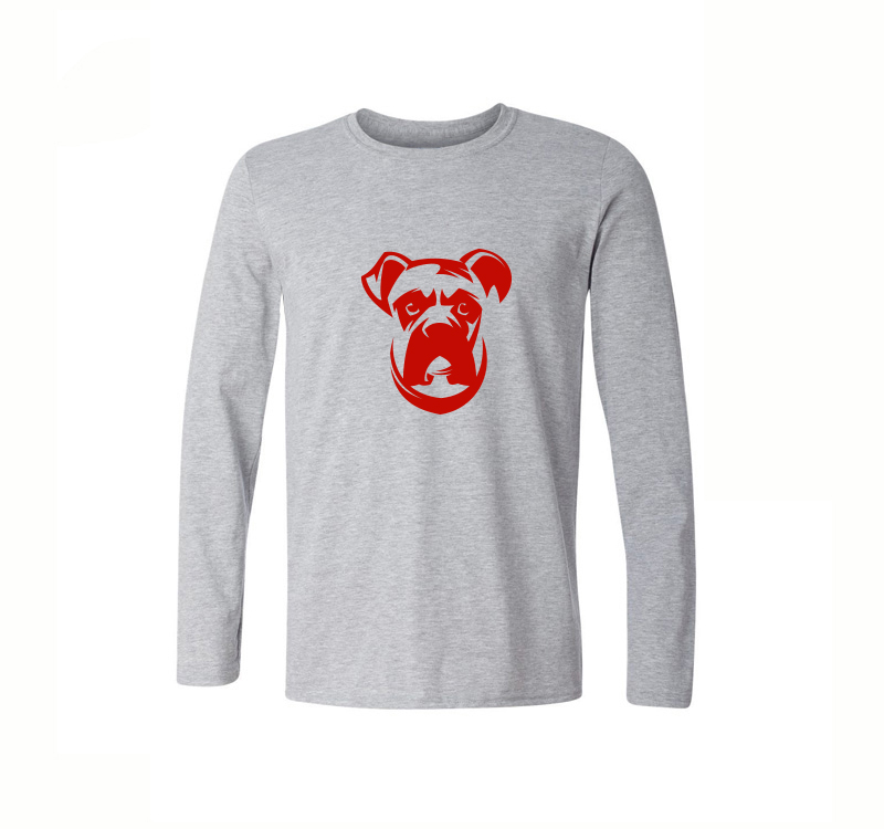9c4bf12c766fc0 Cute Shar Pei Printed T Shirt Men Casual Long Sleeve Cotton T Shirt ...