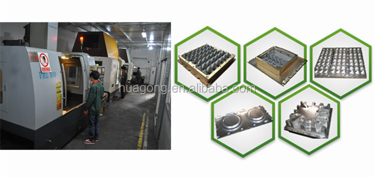 HGHY good quality pulp molding machine aluminum egg tray moulding