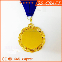 custom design smooth blank round metal medal