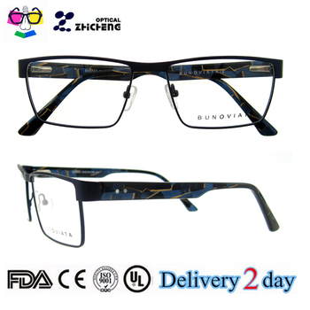 Men Design Glasses Frame Eyeglasses Prescription Metal Spectacle ...