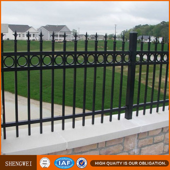 Wrought Iron Fence Panels,square Tube Iron Fence,wrought Iron Garden Wall  Fence
