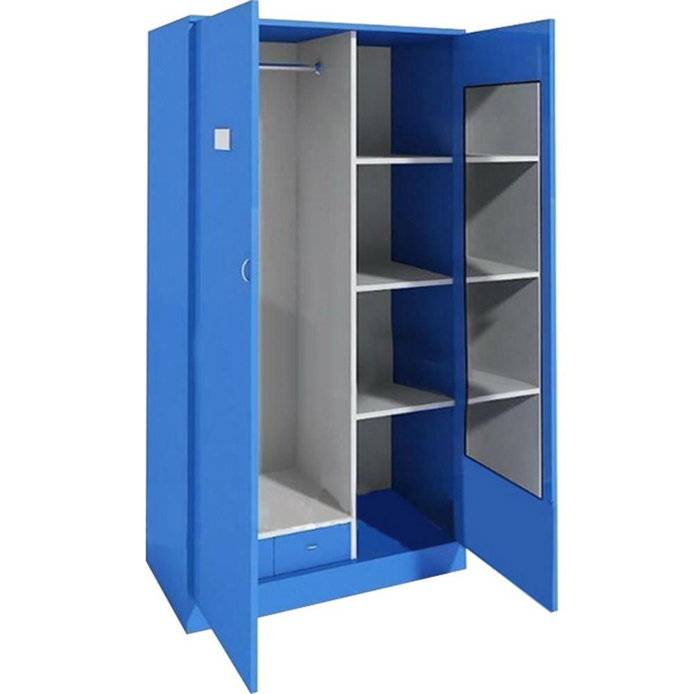 Woonkamer meubels, staal blauwe kleur metalen locker, slaapkamer ...