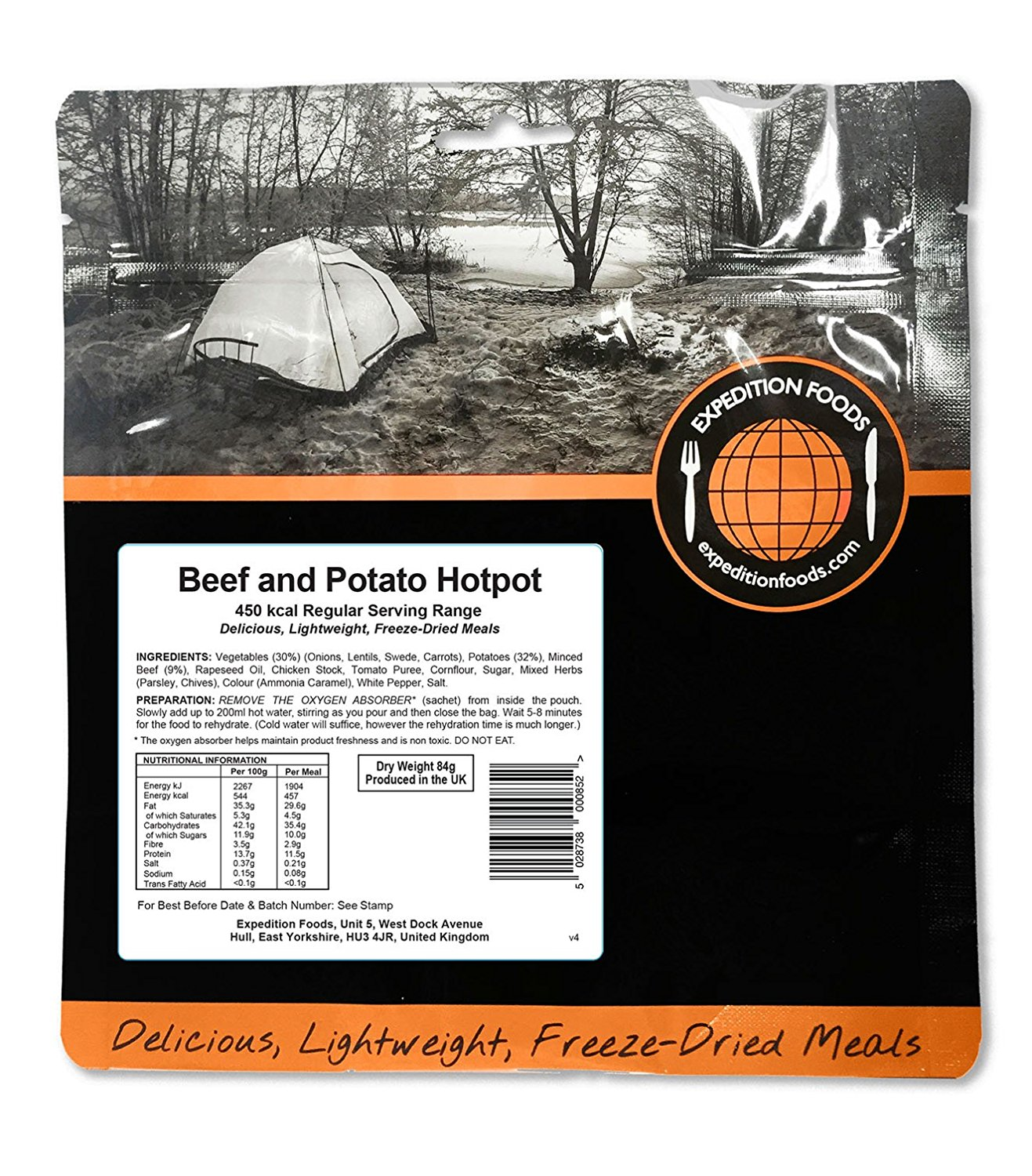 Expedition Foods Regular Serving Beef and Potato Hotpot - Orange by Expedition Foods
