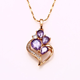 31735 Wholesale flower design jewelry pendant, rose gold plated pendant jewelry, fashion quartz crystal pendant