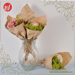 Mixed Bouquet with Wrapping Paper Fake Holder Flower Bouquets SFB4138