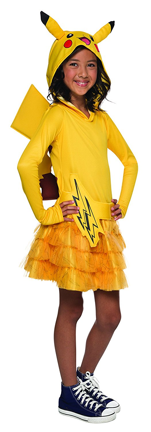 Rubie's Costume Pokemon Pikachu Child Hooded Costume Dress Costume, Medium