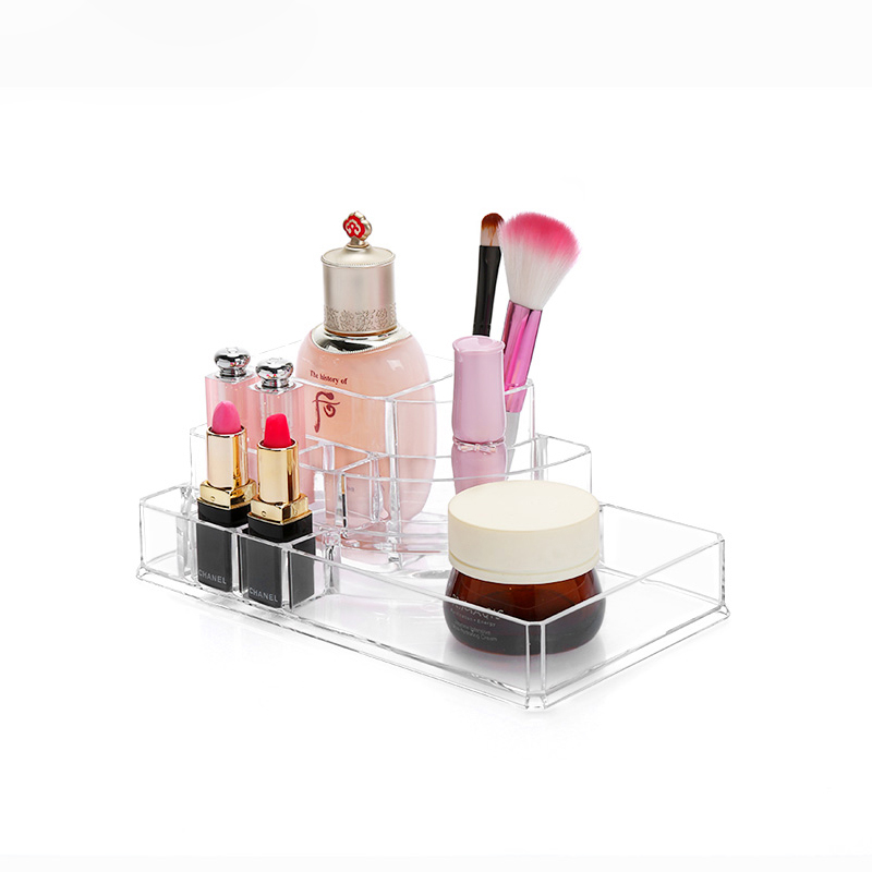 New Design Cosmetic Lipstick Holder Transparent Household Acrylic Cosmetic Storage Box